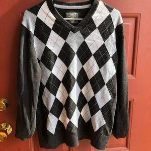H&M argyle sweater